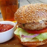 Hamburguesa de pavo   Las recetas de Laura