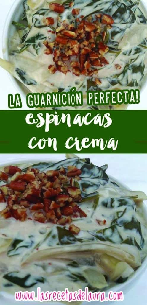 espinacas con crema - las recetas de Laura