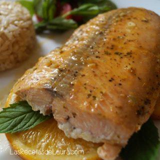 salmón a la naranja - las recetas de Laura