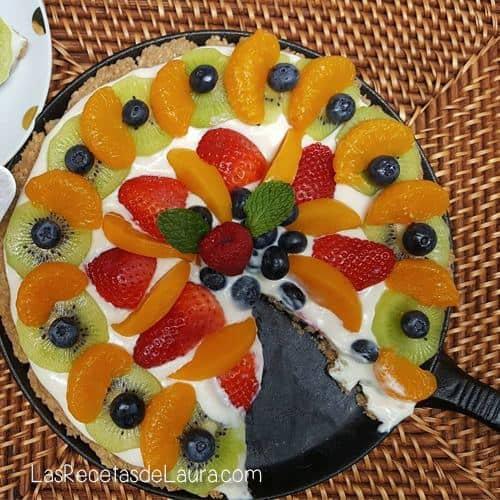 PIE DE QUESO CON FRUTAS – PIZZA DULCE!