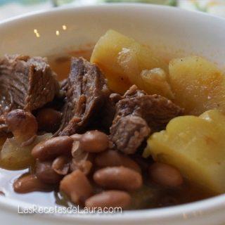 Caldo de res con frijoles - Las recetas de Laura