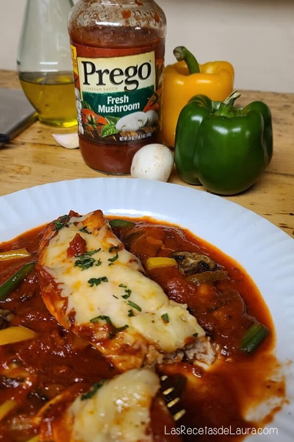 Fish fillet with Prego sauce