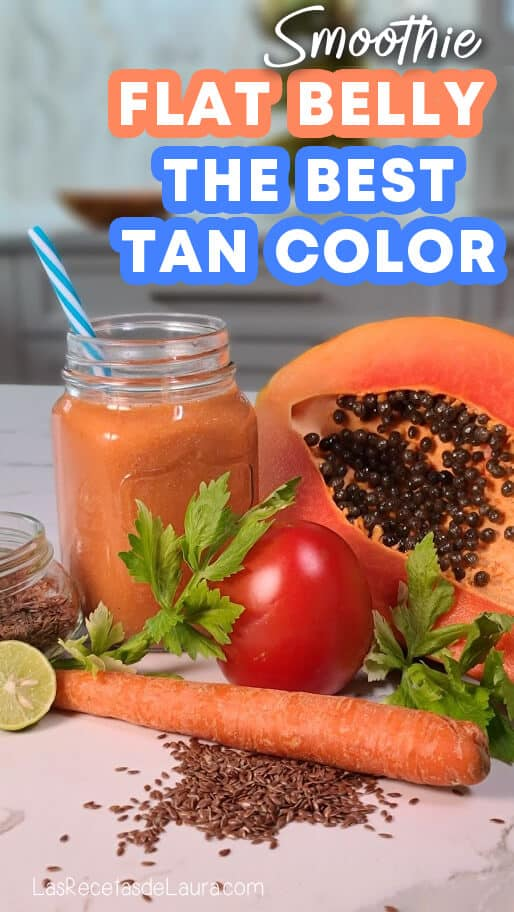 flat beely and perfect tan smoothie