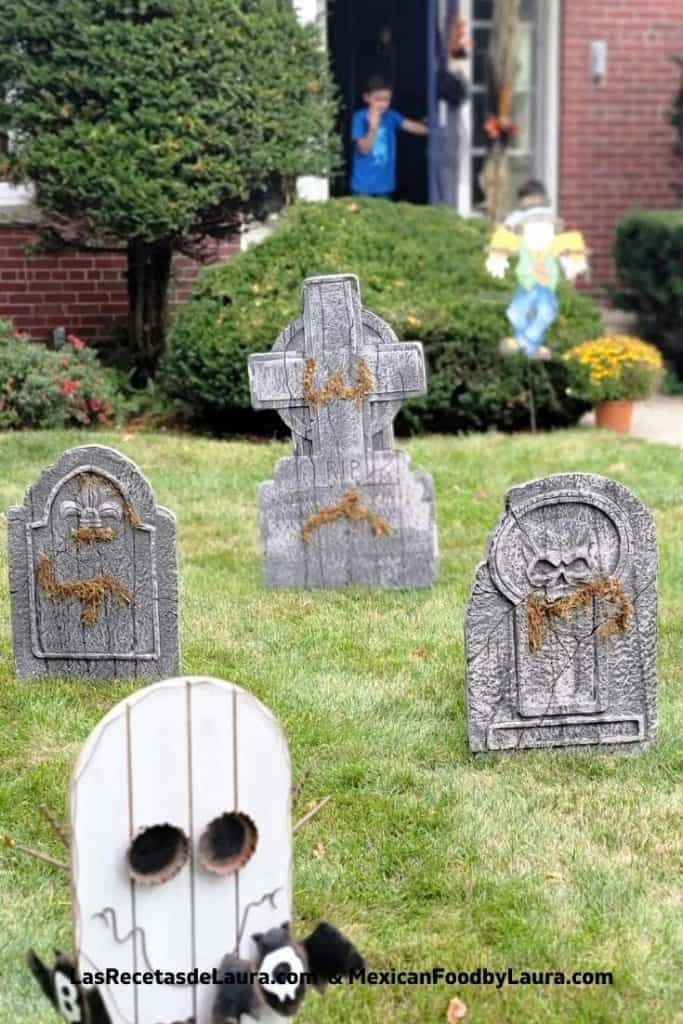 how to stop halloween graveyards from falling down